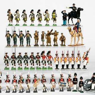 49 Pc, Large Mixed Grouping of Toy Soldiers