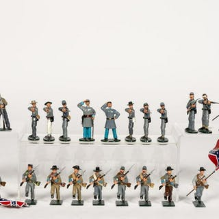 "25 Pc, Ted Toy Assorted ""Confederate"" Toy Soldiers"