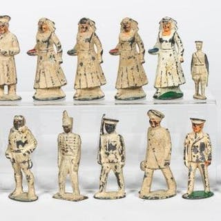 16 Pc, Pre-War Dimestore Toy Soldier Grouping