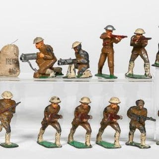 20 Pc, Pre-War Dimestore Toy Soldier Grouping