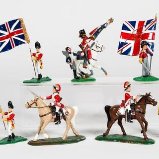 7 Pc, Mixed Maker Hand Painted Toy Soldier Models