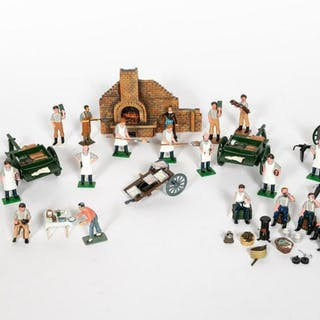 Large Grouping of Cooking Inspired Toy Soldiers