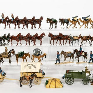 Large Grouping of Calvary Toy Soldiers