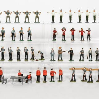 Miscellaneous Mixed Maker Grouping of Toy Soldiers