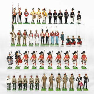 48 Pc, Mostly Britains Toy Soldier Grouping