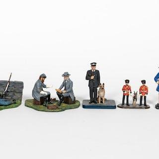 6 Pc, Artist Signed Toy Soldier Models Stadden