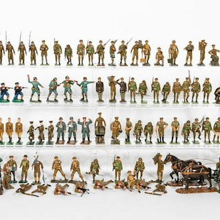110 Pc, Toy Soldier Miscellaneous Grouping