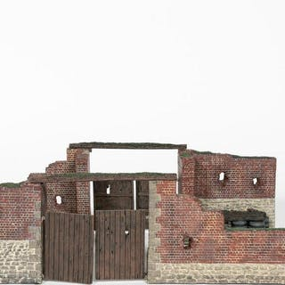 """Britains """"Closing of the Gate At Hougoumont"""""""