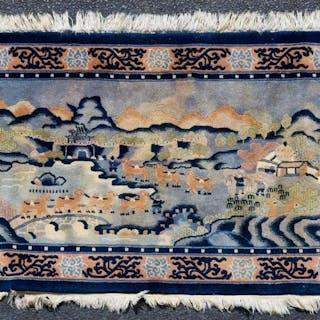 Handwoven Chinese Peking Pictorial Rug