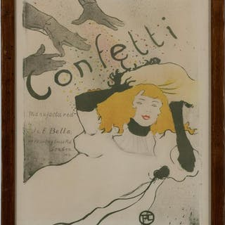 Toulouse-Lautrec, Confetti Poster Lithograph, 1894