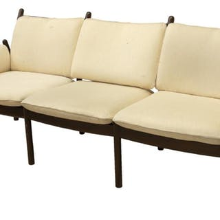 DANISH MODERN WIKKELSO SILKEBORG THREE-SEAT SOFA