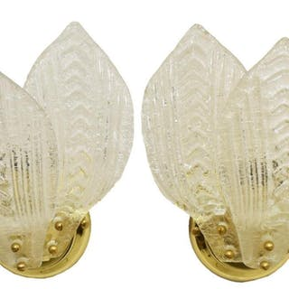 (2) ITALIAN MURANO ART GLASS WALL SCONCES