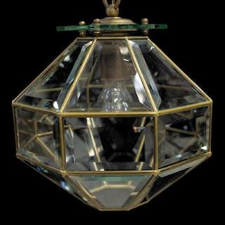 ITALIAN MODERN GLASS SINGLE-LIGHT CEILING LAMP