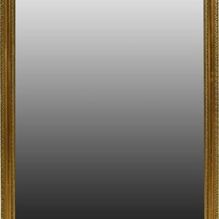"FRENCH GILT FRAMED WALL MIRROR, 40"" X 25"""