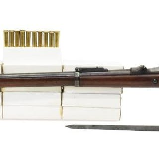 1884 US SPRINGFIELD TRAPDOOR RIFLE, 240 RNDS AMMO