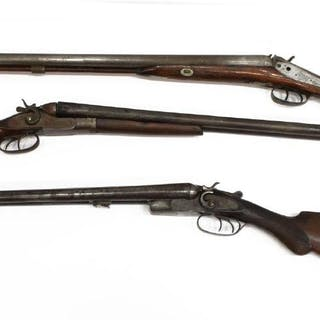 (3) PERCUSSION SHOTGUNS FOR PARTS