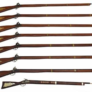 (6) REPLICA CIVIL WAR PERCUSSION MUSKET, CAP GUNS