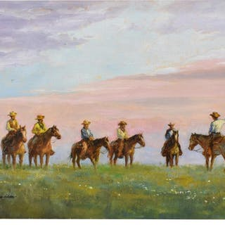 CHARLES SHAW (1941-2005) WESTERN, MAKING PLANS