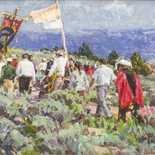 "MARK DAILY (B.1944) ""PROCESSION, SAN PEDRO MESA"""