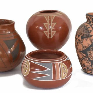 (4) NATIVE AMERICAN & SOUTHWEST POTTERY
