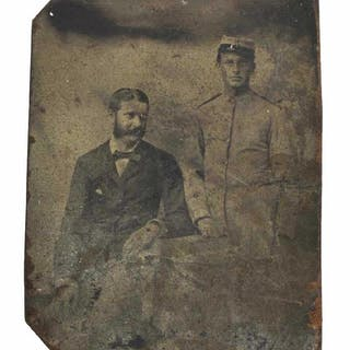 UNIFORMED SOLDIER TINTYPE, POSSIBLY CONFEDERATE