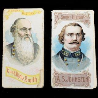 (2) DUKE'S CIGARETTE CARDS, CSA CIVIL WAR GENERALS