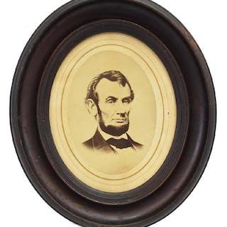 ABRAHAM LINCOLN FRAMED 1864 PHOTO PRINT