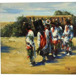 JOHN S. KOENIG (B.1927) AMERICAN INDIAN DANCERS