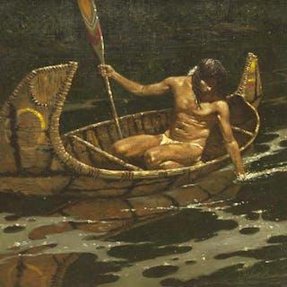 ROBERT SUMMERS (B.1940) REFLECTIONS, INDIAN CANOE