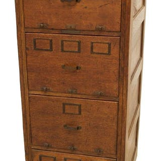 LIBRARY BUREAU SOLE MAKERS OAK FILE CABINET