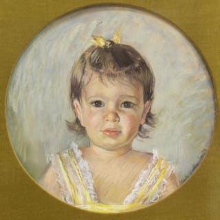 EMILY GUTHRIE SMITH (TX,1909-1986) PASTEL PORTRAIT