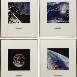 (4) PHOTOGRAPHIC PRINTS OF SPACE BY ASTRONAUTS