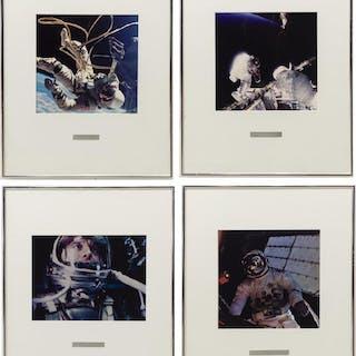 (4) PHOTOGRAPHIC PRINTS OF ASTRONAUTS