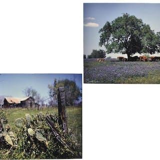 (2) SCOTT TEVEN PHOTOGRAPHS, TEXAS LANDSCAPES