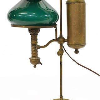 MANHATTAN BRASS CO. STUDENT DESK LAMP C.1877