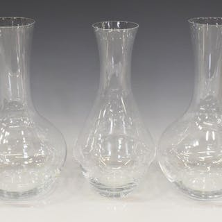 (3) RIEDEL COLORLESS GLASS DECANTER & CARAFES