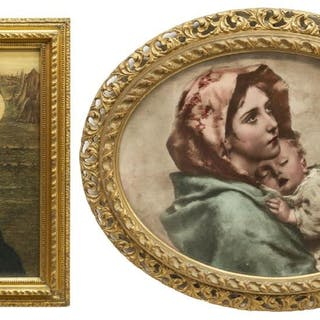 (2) FRAMED ITALIAN RELIGIOUS MADONNA PRINTS