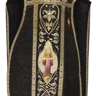 FINE EMBROIDERED LITURGICAL VESTMENT CHASUBLE