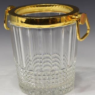 FRENCH GILT METAL MOUNTED CRYSTAL ICE BUCKET
