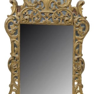 FRENCH GILTWOOD OVERLAY WALL MIRROR