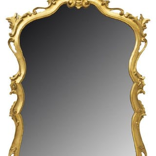 "FLORENTINE GILT WALL MIRROR, 54"" X 31"""