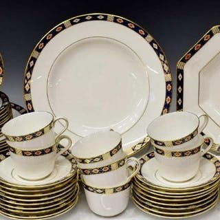 (60) ROYAL CROWN DERBY 'KEDLESTON' DINNER SERVICE