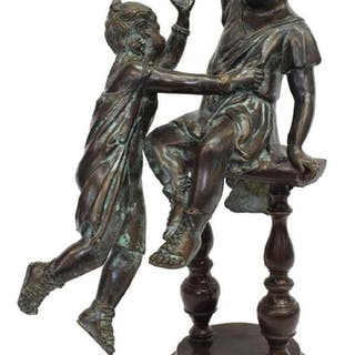 MAITLAND-SMITH VERDE BRONZE FIGURAL GROUP