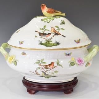 HEREND ROTHSCHILD BIRD PORCELAIN SOUP TUREEN