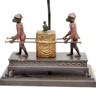 DECORATIVE FREDERICK COOPER BRONZE DESK LAMP