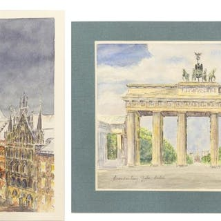 (2) HANS POTREBNY MUNICH & BERLIN WATERCOLORS
