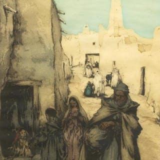ISIDORE VAN MENS (1890-1985) GHARDAIA AQUATINT