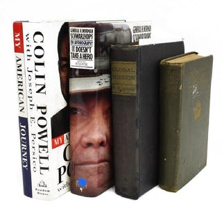 4) SIGNED MILITARY BOOKS COLIN POWELL, SCHWARZKOPF