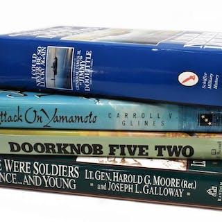 (4) WWII & VIETNAM BOOKS, DOOLITTLE, AUTOGRAPHS
