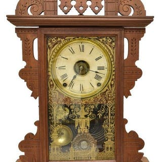 SETH THOMAS VICTORIAN 'ECLIPSE' HANGING CLOCK